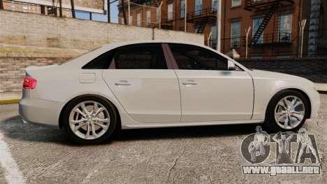 Audi S4 2010 para GTA 4 left