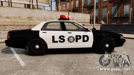 GTA V Vapid Police Cruiser LSPD para GTA 4 left