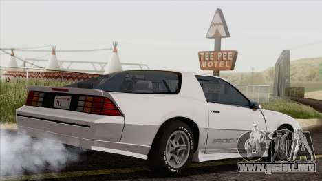 Chevrolet Camaro IROC-Z 1989 FIXED para GTA San Andreas left