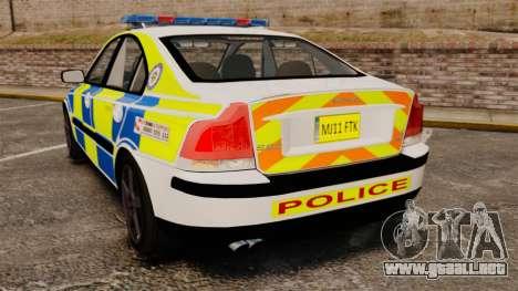 Volvo S60R Police [ELS] para GTA 4 Vista posterior izquierda