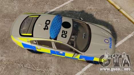 Jaguar XFR 2010 West Midlands Police [ELS] para GTA 4 visión correcta