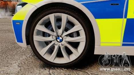 BMW F30 328i Metropolitan Police [ELS] para GTA 4 vista hacia atrás