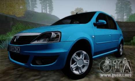 Dacia Logan para la vista superior GTA San Andreas