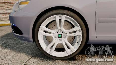 Skoda Octavia RS Unmarked Police [ELS] para GTA 4 vista hacia atrás