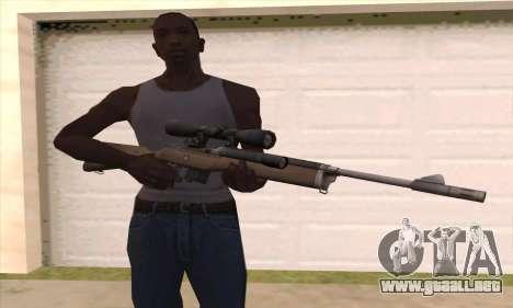 Rifle de francotirador de Left 4 Dead 2 para GTA San Andreas tercera pantalla
