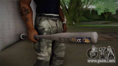 Bate de béisbol de GTA 5 para GTA San Andreas tercera pantalla