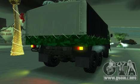 Ejército KAMAZ 4310 para la visión correcta GTA San Andreas