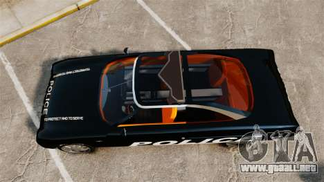 Ford Forty Nine Concept 2001 Police [ELS] para GTA 4 visión correcta