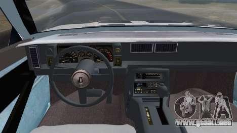 Chevrolet Camaro IROC-Z 1989 FIXED para la visión correcta GTA San Andreas
