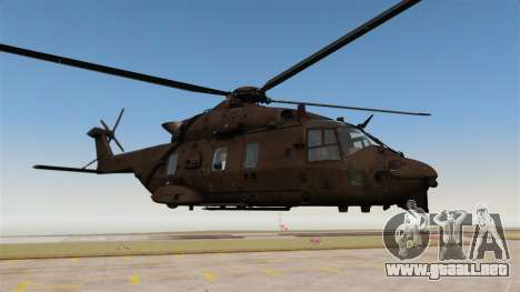 Eurocopter NHIndustries NH90 [EPM] para GTA 4 vista hacia atrás