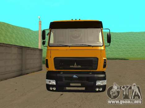 MAZ 6312A8 para la visión correcta GTA San Andreas