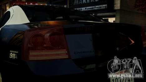 Dodge Charger LAPD 2008 para GTA 4 vista superior