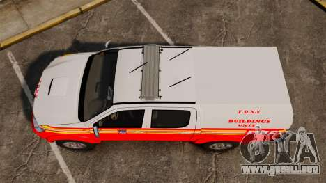Toyota Hilux FDNY v2 [ELS] para GTA 4 visión correcta
