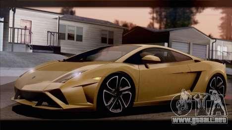 Lamborghini Gallardo LP560-4 Coupe 2013 V1.0 para vista inferior GTA San Andreas