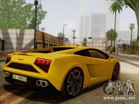 Lamborghini Gallardo 2013 para GTA San Andreas left