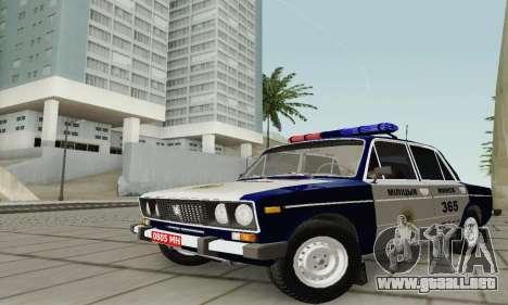 Policía 2106 VAZ para visión interna GTA San Andreas