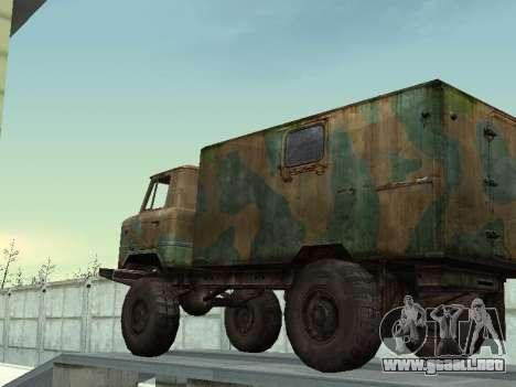 GAZ 66 para vista lateral GTA San Andreas