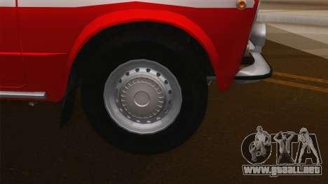VAZ 21011 proteccion contra el fuego para la visión correcta GTA San Andreas