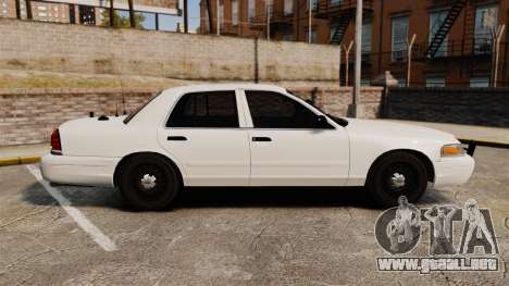 Ford Crown Victoria 1999 Unmarked Police para GTA 4 left