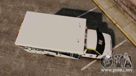 Brute Alberta Health Services Ambulance [ELS] para GTA 4 visión correcta