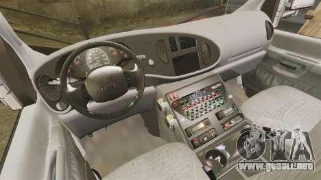 Ford E-350 LCFR [ELS] para GTA 4 vista hacia atrás