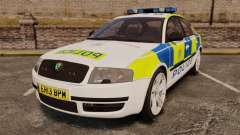 Skoda Superb 2006 Police [ELS] Whelen Edge para GTA 4