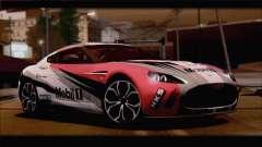Aston Martin V12 Zagato 2012 [HQLM] para GTA San Andreas