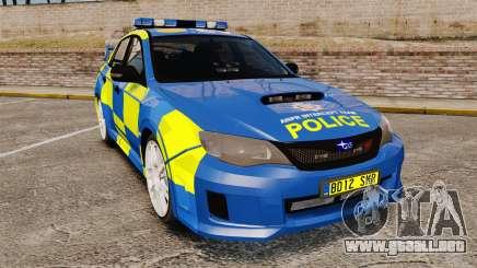 Subaru Impreza WRX STI 2011 Police [ELS] para GTA 4