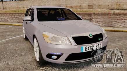 Skoda Octavia RS Unmarked Police [ELS] para GTA 4