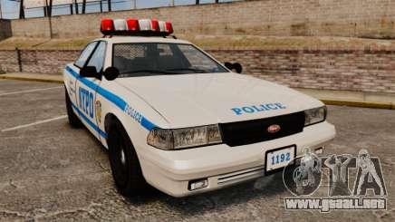 GTA V Police Vapid Cruiser NYPD para GTA 4
