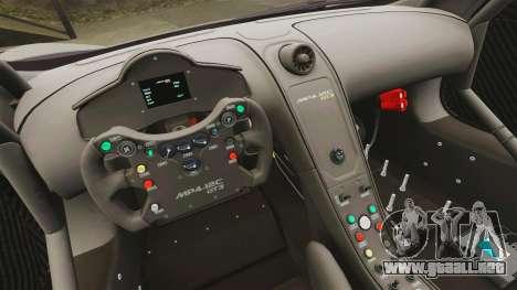 McLaren MP4-12C GT3 Blank para GTA 4 vista lateral