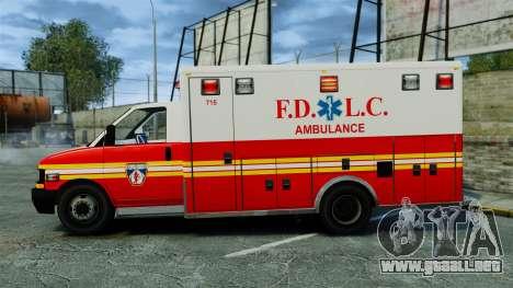 Brute FDLC Ambulance [ELS] para GTA 4 left
