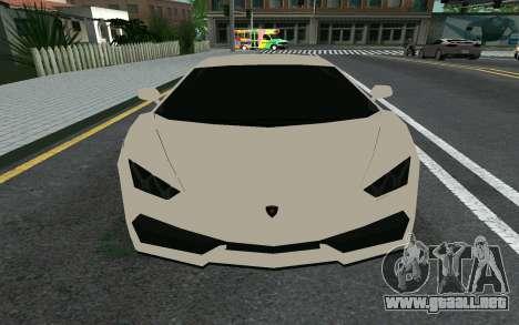 Lamborghini Huracane LP610-4 para GTA San Andreas left