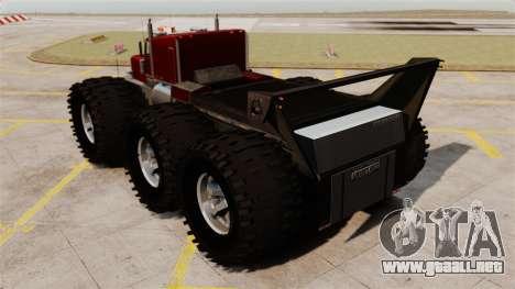 The Biggest Monster Truck para GTA 4 Vista posterior izquierda