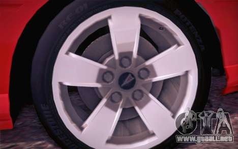 Pontiac GTO 2005 para visión interna GTA San Andreas