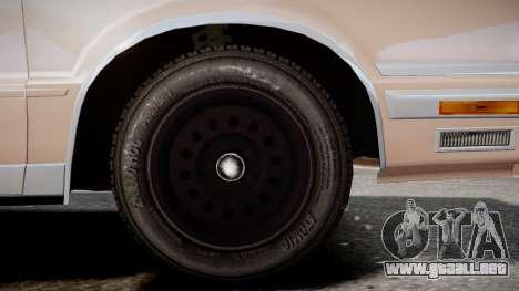 Chrysler New Yorker 1988 para GTA 4 Vista posterior izquierda