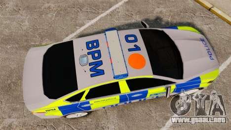 Ford Mondeo 2014 Metropolitan Police [ELS] para GTA 4 visión correcta