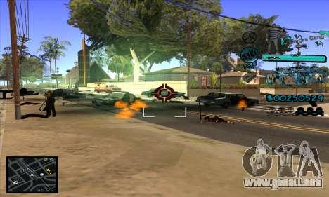C-HUD Aztecas Gang para GTA San Andreas quinta pantalla