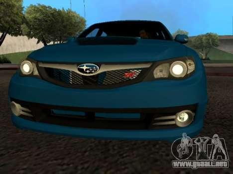 Subaru Impreza STi para visión interna GTA San Andreas