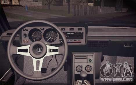 Volkswagen Scirocco S (Typ 53) 1981 IVF para GTA San Andreas vista hacia atrás