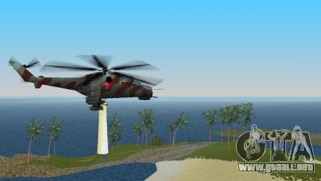 Mi-24 Krokodil para GTA Vice City vista lateral izquierdo