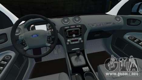 Ford Mondeo Estate Police Dog Unit [ELS] para GTA 4 vista superior