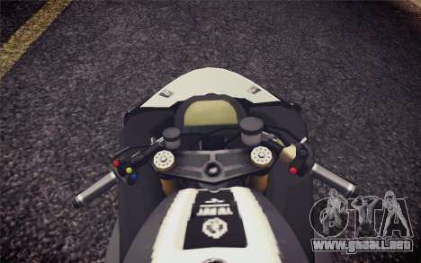 Yamaha YZF R1 2012 Black para la visión correcta GTA San Andreas