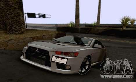 Mitsubishi Lancer X Evolution para GTA San Andreas interior
