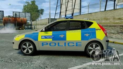 Hyundai i30 Metropolitan Police [ELS] para GTA 4 left
