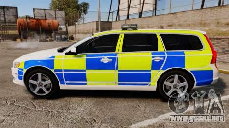 Volvo V70 South Wales Police [ELS] para GTA 4 left