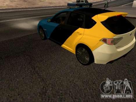 Subaru Impreza STi para GTA San Andreas left