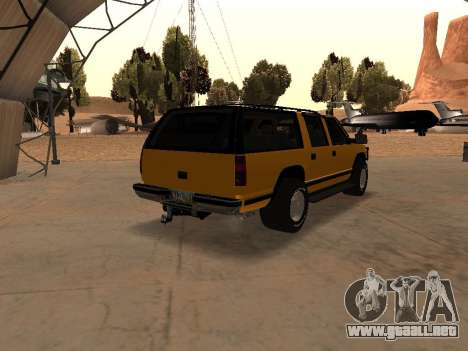 GMC Yukon para GTA San Andreas vista hacia atrás