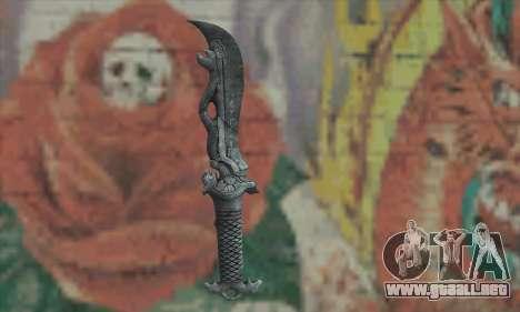 Chinese knife para GTA San Andreas segunda pantalla