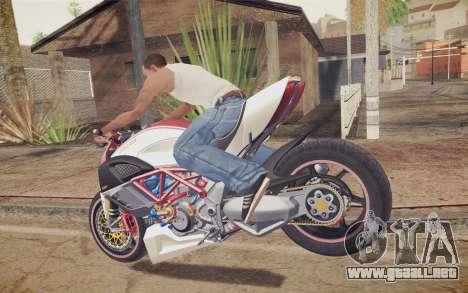 Ducati Diavel Carbon 2011 para GTA San Andreas vista posterior izquierda